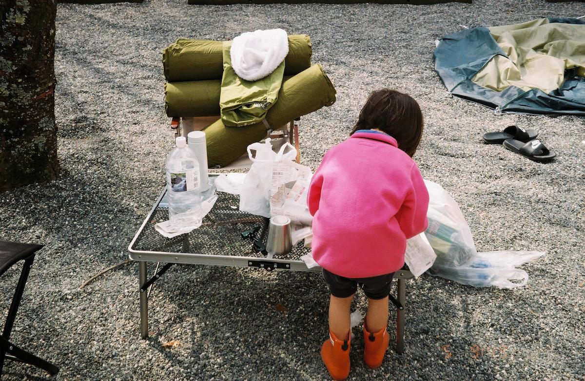 キャンプ、フィルム写真